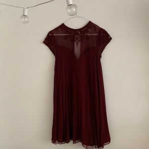 Kimchi Blue// Maroon Dress from Urban Outfitters